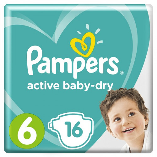 PAMPERS Подгузники Active Baby-Dry Extra Large (13-18 кг) Упаковка 16