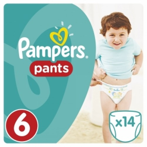 PAMPERS  Трусики Pants Extra Large (15кг+) 14шт
