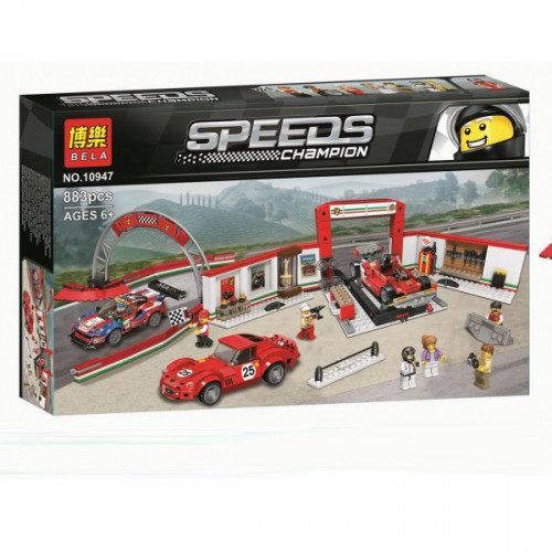 Конструктор BELA Speeds  Champion Гараж Феррари 883дет. 10947