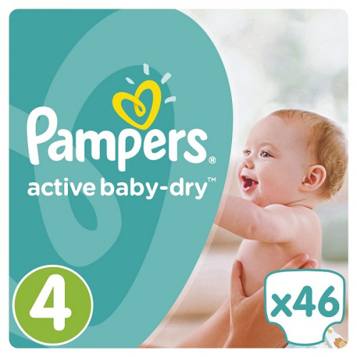 PAMPERS Подгузники Active Baby-Dry Maxi (8-14 кг) 46