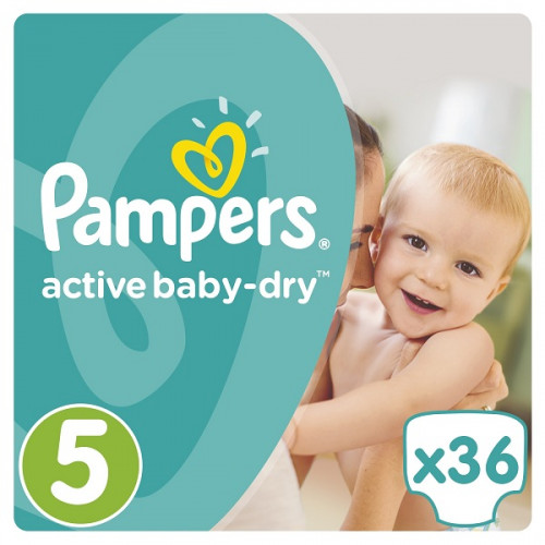 PAMPERS Подгузники Active Baby-Dry Junior (11-18кг) 36шт