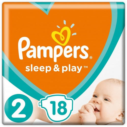 PAMPERS Подгузники Sleep&Play Mini р.2 (4-8кг) 18шт