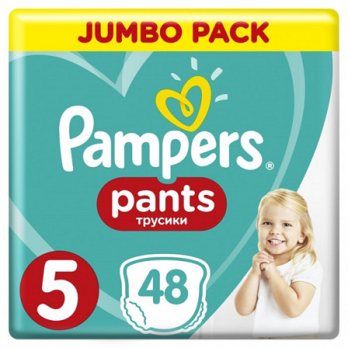 PAMPERS Трусики Pants Junior р.5 (12-17кг) 48шт